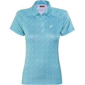 Maier Sports Pandy Polo Shirt Women Blue Allover